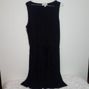 Olive & Oak Black Dress Soft Ties at waist SPRING